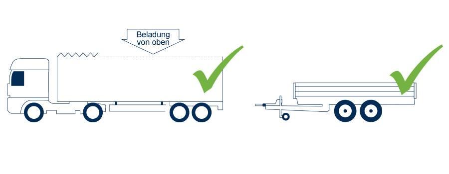 Geeignete Fahrzeuge zur Abholung Ihrer Trapez- oder Wellbleche
