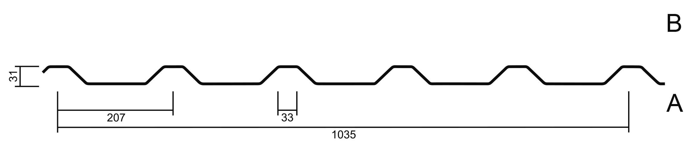 Geometrie M 35.1KD/207 mit Stützfuß
