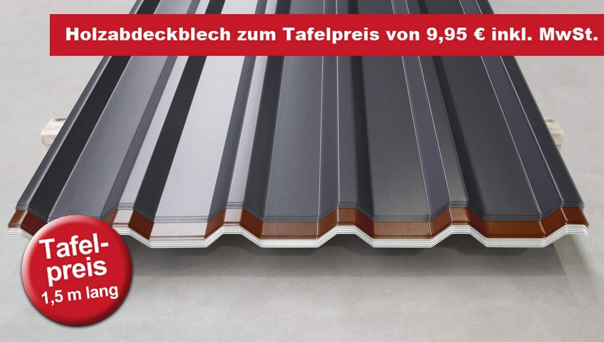 Holzpolterbleche Trapezprofil M 35.1/207 in 1,5 m Länge