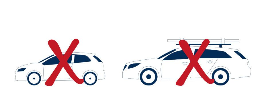 PKWs und Sprinter sind auch nicht zum Verladen der Bleche geeignet